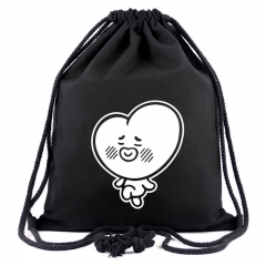 KPOP BTS BT21 Bangtan Boys Album V JIN SUGA Drawstring Canvas Backpack Bag Gifts