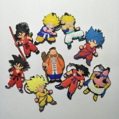 Anime DRAGON BALL Z Silicone Keychain Son Goku Super Saiyan Bag Keyring Series 2