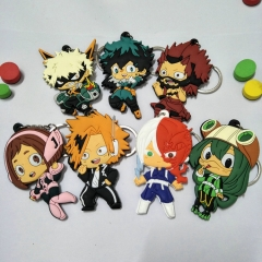 Anime My Hero Academia Silicone Keychain Limited Charm Character Cosplay Bag Keyring Birthday Gift