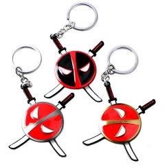 Movie Deadpool 2 Keychain Rotatable Superhero Keyring