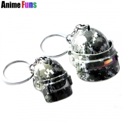 Game Playerunknown's Battlegrounds Keyring PUBG Camouflage Level 3 Helmet Openable Keychain