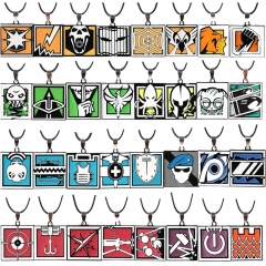 41 Types Game Rainbow Six Logo Choker Necklace ALIBI MAESTRO LION FINKA Pendant