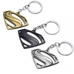 Movie Marvel Super Hero Superman Keychain Alloy Keyring