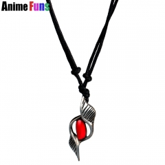 Game DmC Devil May Cry Dante Choker Necklace Red Crystal Pendant