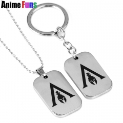 Game Assassin's Odysse Choker Necklace Keyring Keychain Pendant jewelry Fans Gift