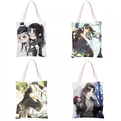 Anime Mo Dao Zu Shi Canvas Bags Wei WuXian Lan WangJi The Grandmaster of Demonic Casual Shoulder Bags School Travel Bags 19 type