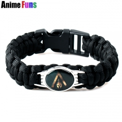 Game Assassins Logo Charm Bracelet Retro AC Punk Jewelry DIY Handmade Braided Bangle Gift for fan Souvenir