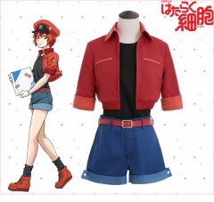 Anime Cells At Work Red Blood Cell Cosplay Costume Uniform Cloth Suits