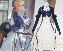 Violet Evergarden Cosplay Costume Set With Dress Jacket Gloves