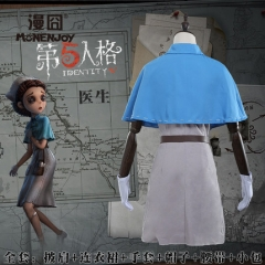 Game Identity V Cosplay Costume Doctor Nurse Emily Dale With Dress Shawl Gloves