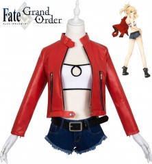 Anime Fate Apocrypha Costume Casual Suit Mordred Fate Stay Night Biker Jacket