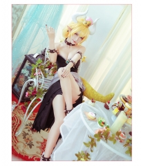 Super Mario Bowsette Princ Cosplay Costume Full Sets Dresses Suits Bracelet