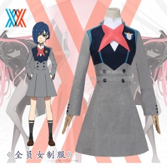 AnimeDARLING in the FRANXX ICHIGO 015 Cosplay Costume Dresses Universal Uniform Suits