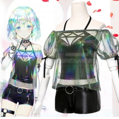 Anime Houseki no Kuni Land of the Lustrous Member Diamond Cosplay Costume Suits With Accessories