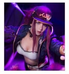 Game LOL Virtual Band K/DA Akali The Fist of Shadow Cosplay Costume Uniform Cloth Suits