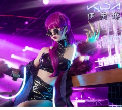 Anime LOL Virtual Band K/DA Evelynn The Widow Maker Cosplay Costume Uniform Cloth Suits