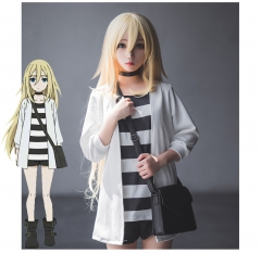 Angels of Death Rachel Gardner Ray Cosplay Costume Uniform Cloth Suits Coat T-Shirt Shorts With Bag And Collar