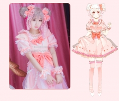Game King of Glory Xiao Qiao Lolita Nylon Lace Cosplay Costume Braces Skirt Princs Dress Summer Suits