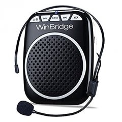 W WINBRIDGE WB001 Rechargeable Ultralight Portable Voice Amplifier Waist Support MP3 Format Audio for Tour Guides, Teachers, Coaches, Presentations