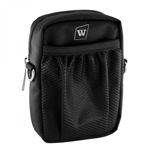 WinBridge Voice Amplifiers Speaker Carry Case Cover Bag with Mesh Pocket Zip And Snap Hook Fit USB Cable Wall Charger Phone WB010
