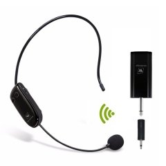 WinBridge UHF Wireless Microphone Rechargeable Headset Receiver Voice Amplify for Audio Sound System External Speaker etc (WB008 Pro)