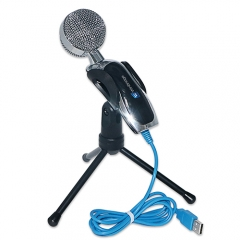 Gaming Condenser Microphone USB Multimedia Desktop Tripod Recording Microphone Clear Sound Microphone