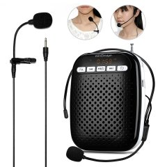 WinBridge Voice Amplifier W378 with Headset Microphone and Lavalier Microphone Portable Rechargeable PA System Speaker Built In FM Stereo Radio