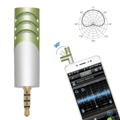 Mobile recording microphone condenser microphone mini handheld 3.5 mm 90°rotatable microphone apply to Android and IOS system smartphone