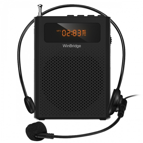 Voice Amplifier with Wired Microphone Headset and Waistband, Portable Mini Voice Speaker Amplifier, Supports MP3 Audio, FM, Recording for Teachers