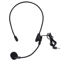 Headset Microphone, Flexible Wired Boom (Standard 3.5mm Connector Jack) for Voice Amplifier Mic Systems