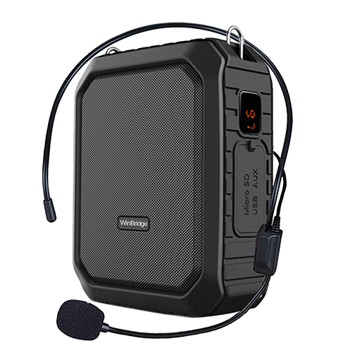 WinBridge Portable Voice Amplifier with Wired Mic Headset Waterproof Loudspeaker Voice Changer Megaphone for Teachers,Parkinsons, Outdoors, Meeting...