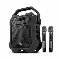 Portable PA System with Wireless Handheld Mic 80W Powerful Karaoke Amplifier Loudspeaker Rechargeable Voice Amp Speaker for Outdoor Activities K10