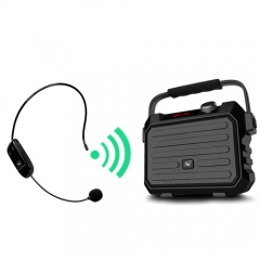 Wireless Pa System Speaker with UHF Headset Mic, 30W Portable Voice Loudspeaker 3600mAh Rechargeable Amp and Microphone Personal Voice Amplifier WBH5