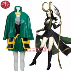 MANLUYUNXIAO New Arrival The Avengers Daimon Loki Cosplay Costume For Women Custom made