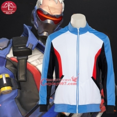 MANLUYUNXIAO Game of Over Watch Soldier 76 Hoody Cosplay Costume Men's Jacket Halloween Cosplay Costume For Men Hot Sale