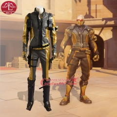 MANLUYUNXIAO Game of Over Watch Cosplay Costume Gold Version Soldier 76 Jacket for Adult Men Halloween Party Clothing Outfit