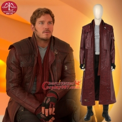 MANLUYUNXIAO Guardians of The Galaxy 2 Cosplay Costume Star Lord Cosplay Costume Full Suit Peter Quill Cosplay Custom Made