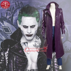 MANLUYUNXIAO New Men's Suicide Squad Joker Costume Halloween Carnival Party Cosplay Costumes for Men Custom Made Full Set