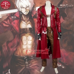 MANLUYUNXIAO New Men's Devil May Cry Costume Dante Costume Deluxe Outfit Halloween Carnival Cosplay Costume For Men Custom Made