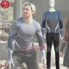 MANLUYUNXIAO Men Costume The Avengers Age of Ultron Quick Sliver Costume Halloween Carnival Cosplay Costume For Men Custom Made