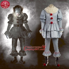 MANLUYUNXIAO Halloween Pennywise Cosplay Scary Clown Costume for Adult and Children Any Size