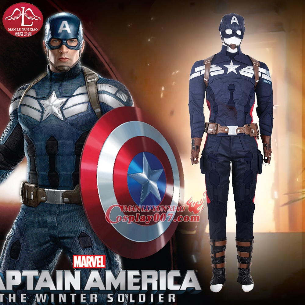 MANLUYUNXIAO Men Costume Superhero American Captain 2 Cosplay Costume Halloween Carnival Cosplay Costume For Men Custom  sc 1 st  Cosplay007 & Men Superhero American Captain 2 Cosplay Costume Halloween Carnival ...