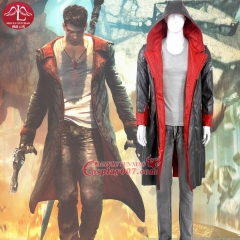 MANLUYUNXIAO New Hot Anime Cosplay Devil May Cry 5 Dante Cosplay Costume Men's Party Halloween Cosplay Suits