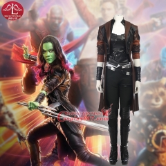 MANLUYUNXIAO Guardians of The Galaxy Cosplay Costume Gamora Outfit Full Set Superhero Halloween Party Women Adult Custom Made