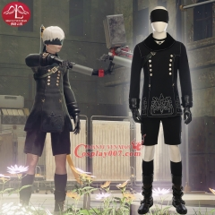 MANLUYUNXIAO High Quality NieR Automata Cosplay Costume for Men Uniforms full size Custom Made