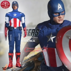MANLUYUNXIAO Movie Captain America Superhero Halloween Carnival Cosplay Costume for Men Full set Custom Made