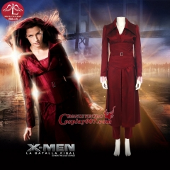 MANLUYUNXIAO Arrival X Men Jean Grey Phoenix Cosplay Costume For Women Red Suit Custom Made