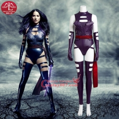 MANLUYUNXIAO X Men Apocalypse Psylocke 2016 Cosplay Costume for women sexy adult leather jumpsuit custom made