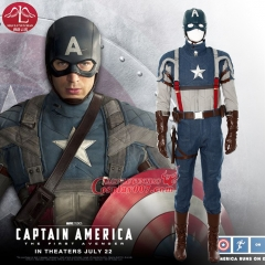 "MANLUYUNXIAO  New Men's American captain 1 Steven ""Steve"" Rogers Cosplay Costume Halloween Costume For Men Custom Made"