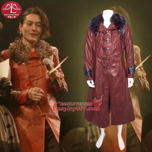 MANLUYUNXIAO Men's Masked Rider/Kamen Rider Cosplay Costume Red Coat For Men Halloween Custom Made